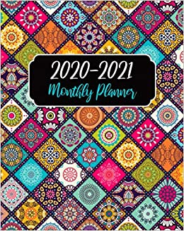 Monthly Planner 2020-2021: Mandala Cover, January 2020 to ...