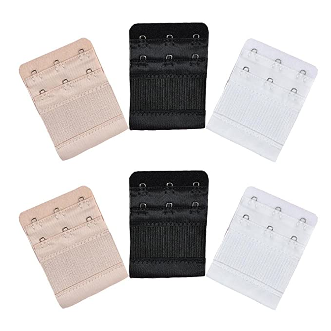 21eb4bde49 Image Unavailable. Image not available for. Color  SUJING 6 Pieces Women s Bra  Extender Elastic Stretchy Bra Extension Strap 3 Hooks Extender Strap