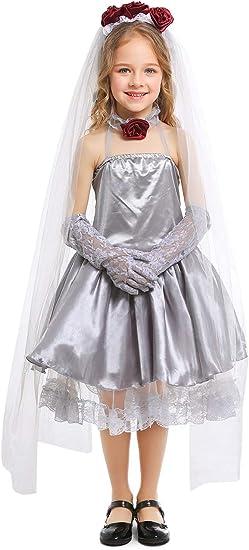 Reina Vampiro Novia Fantasma Disfraz de Halloween Fiesta Cosplay ...