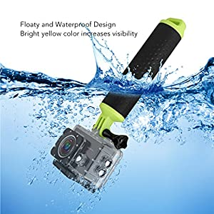 Victure Floating Hand Grip Waterproof Handle Water Sport Pole Diving Stick Monopod for Action Camera