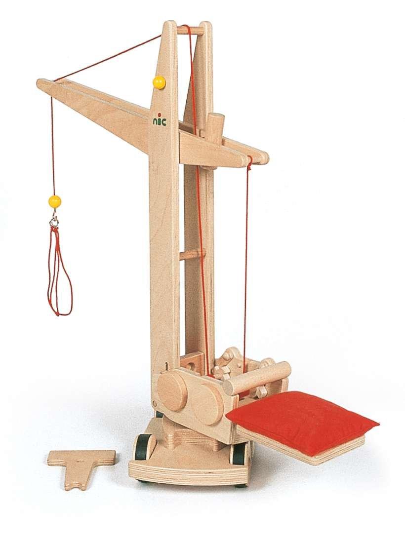 Nic - Holzspielzeug 1874 - Baukran