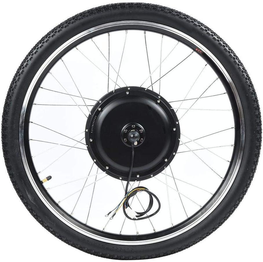 Bicicleta el/éctrica 36V 500W Kit de conversi/ón de Motor de Cubo Rueda 26in con medidor Jacksking Kit de Motor Ebike