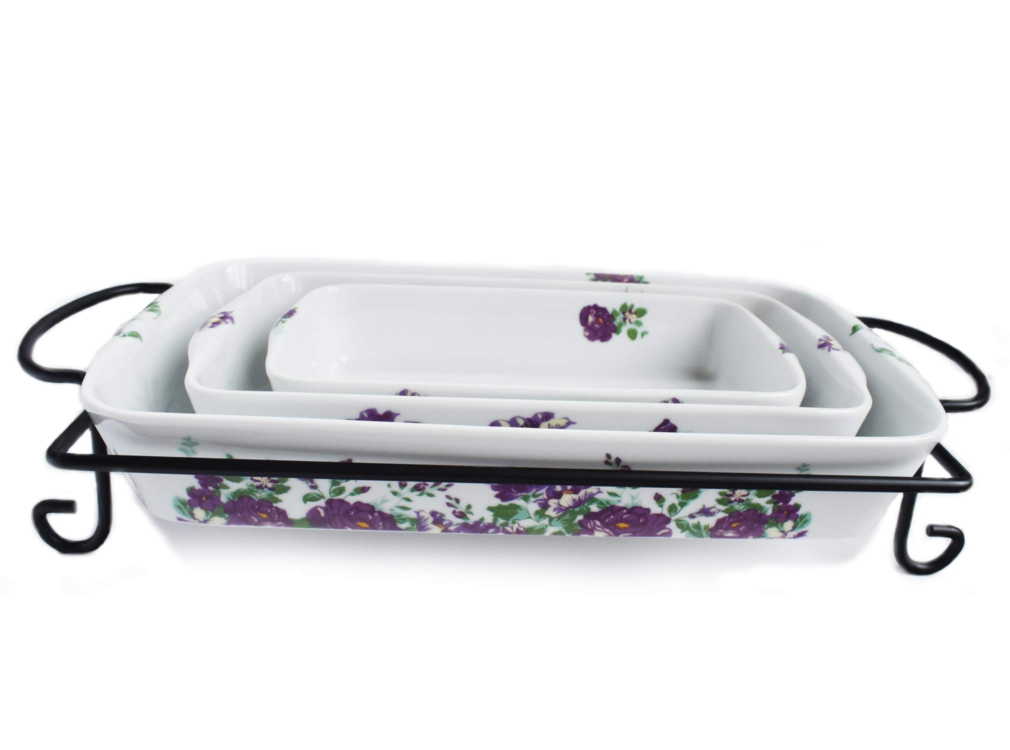Darbie's Rose Amethyst 4 Piece Bake/Serve by Halo by Darbie Angell (Image #1)