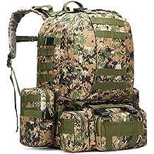 HOWON Outdoor 50L Military Rucksacks Tactical Backpack Assault Pack Combat Backpack Trekking Bag
