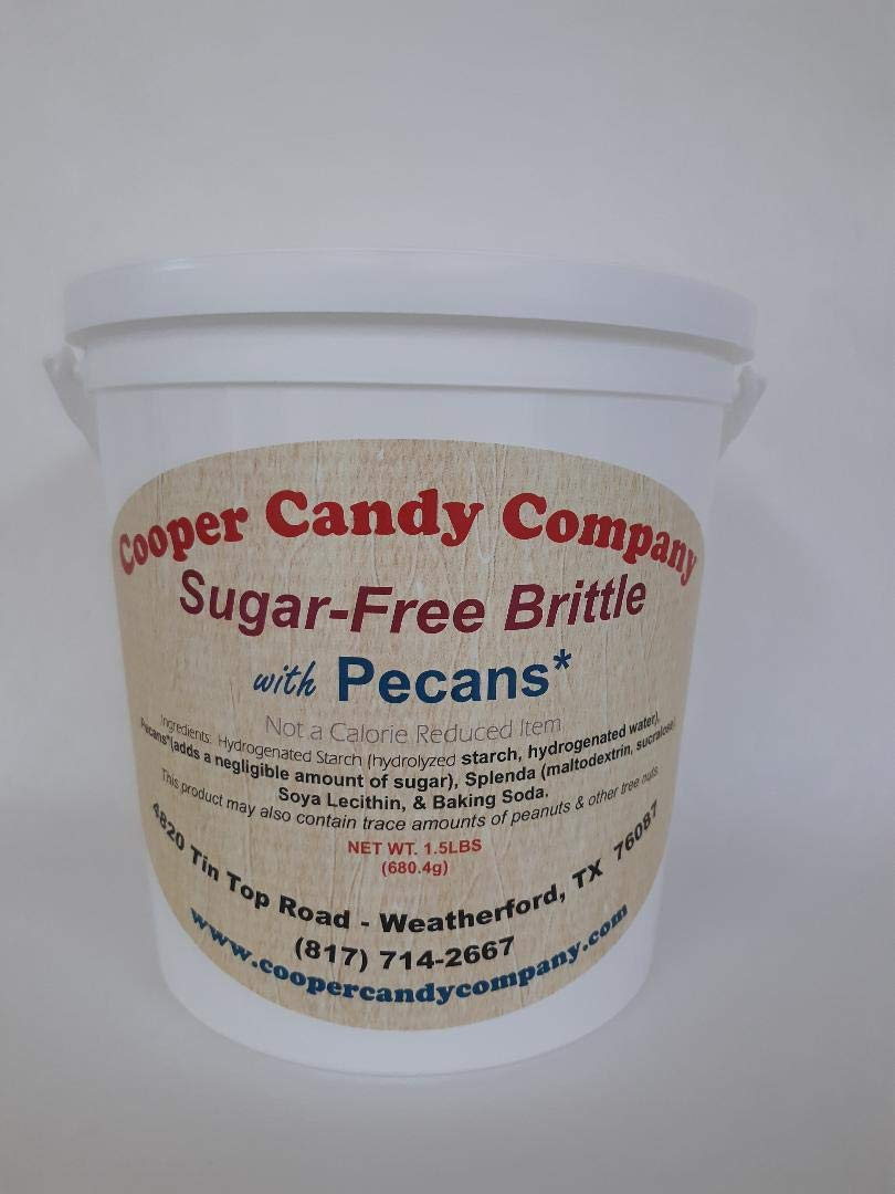 Cooper Candy Company Sugar-Free Brittle with Pecans, 1.5lbs. by Cooper Candy Company