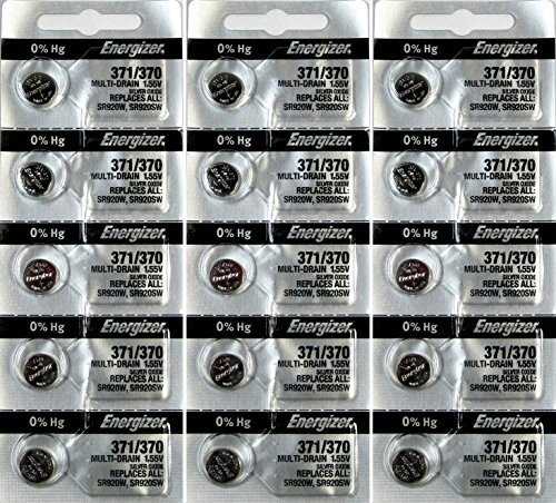 Energizer 371 or 370 Button Cell Silver Oxide SR920SW 15 Watch Batteries from Energizer