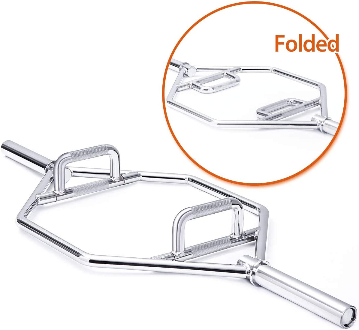 Merax Foldable Chrome Olympic Hex Bar
