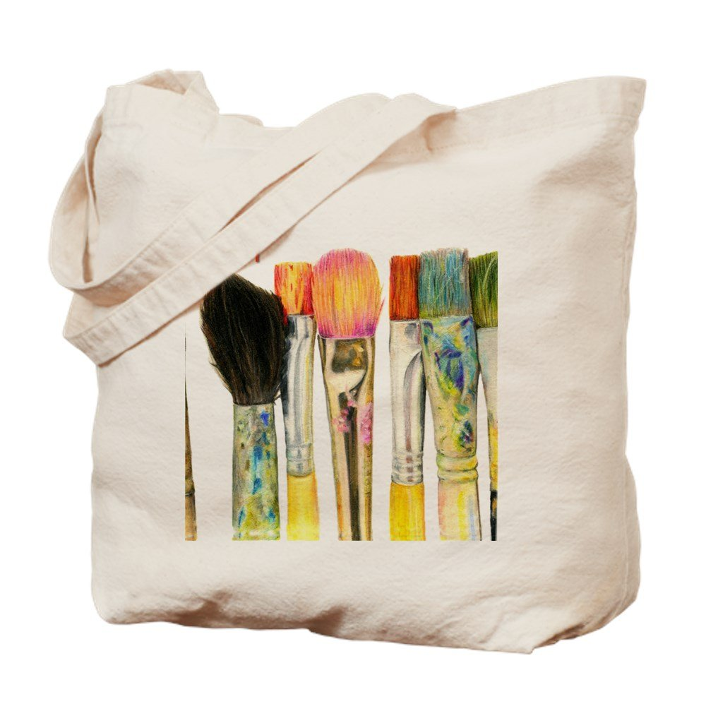 CafePress Artist Paint Brushes 02 Natural Canvas Shopping Image 1
