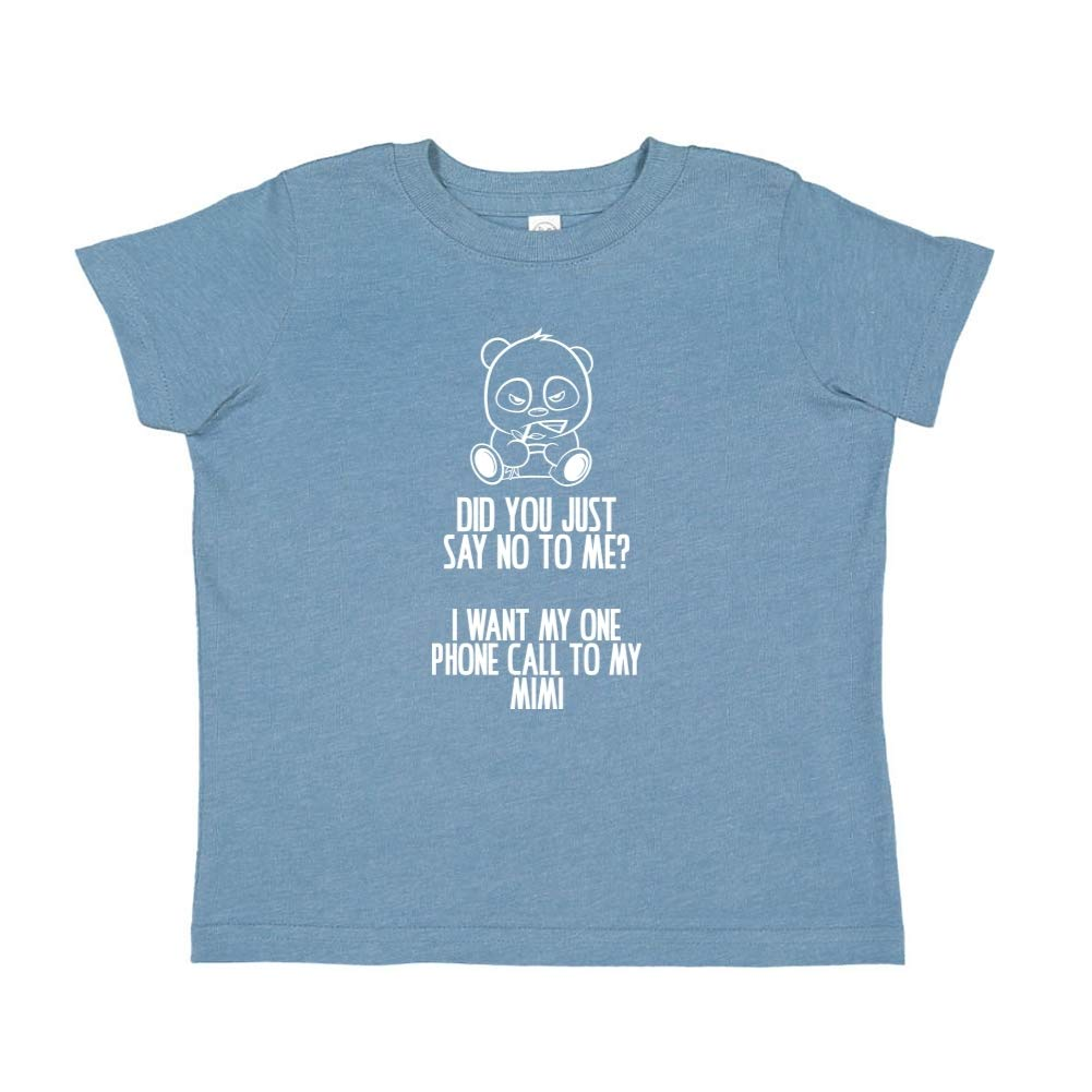 No I Want My One Call to My Mimi Toddler//Kids Short Sleeve T-Shirt