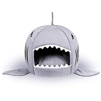 Tiburón Perro Cama Mascota Gato Cama Tiburón Gato Cama Casa Grande Pequeño Y Medio Perro Mascota