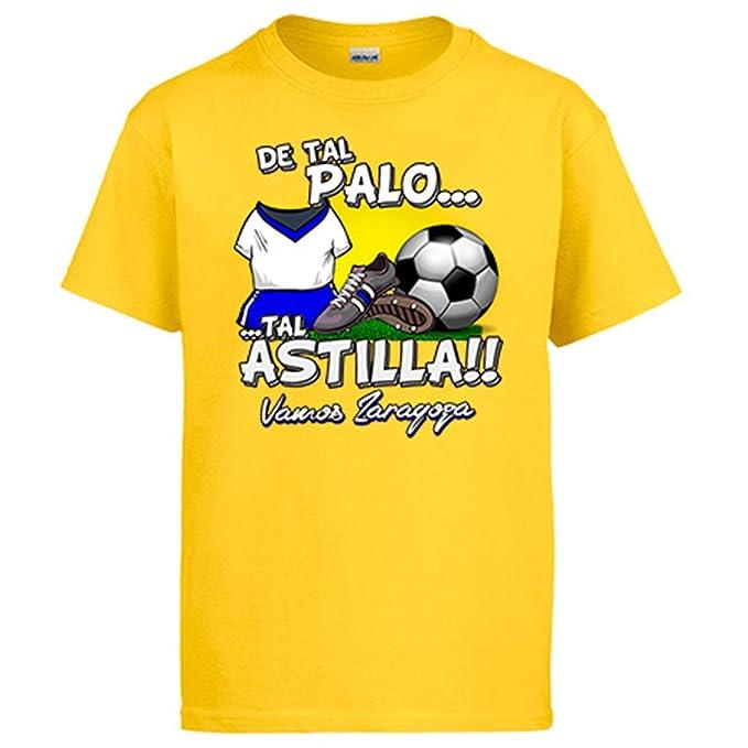Camiseta De tal palo tal astilla Zaragoza fútbol: Amazon.es: Ropa y accesorios