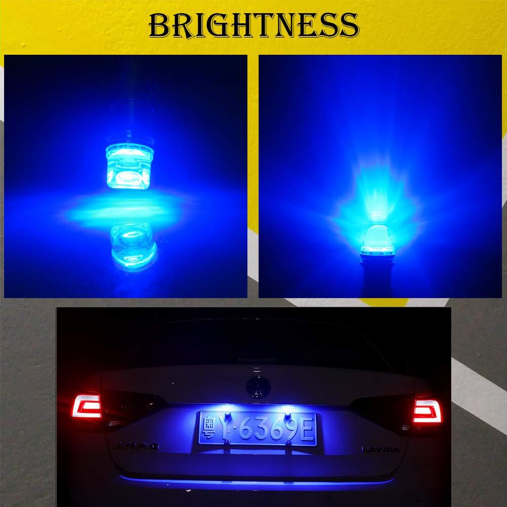 Grandview 10pcs BA9S Lampadine a LED Blu BA9 BA9S 53 57 1895 64111 Lampadine T4W con Chip 3-2835-SMD per Luci Laterali Luci per Porta Luci di Cortesia Luci per Mappe Garanzia di 2 Anni
