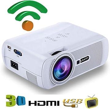 FSM88 Mini proyector, LED HD con Altavoces Dobles Proyector de ...