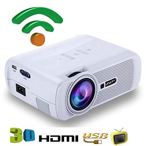 FSM88 Mini proyector, LED HD con Altavoces Dobles Proyector ...