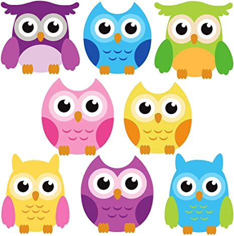 Amazon Com Dekosh Owl Wall Decals For Baby Nursery Decor Colorful Large Jungle Theme Animal Stickers Kids Playroom Classroom Kitchen Dining