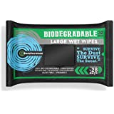 Surviveware Biodegradable Wet Wipes Large Pack - Rinse Free Shower Wipes for Post Workouts, Camping, Backpacking, Outdoors an