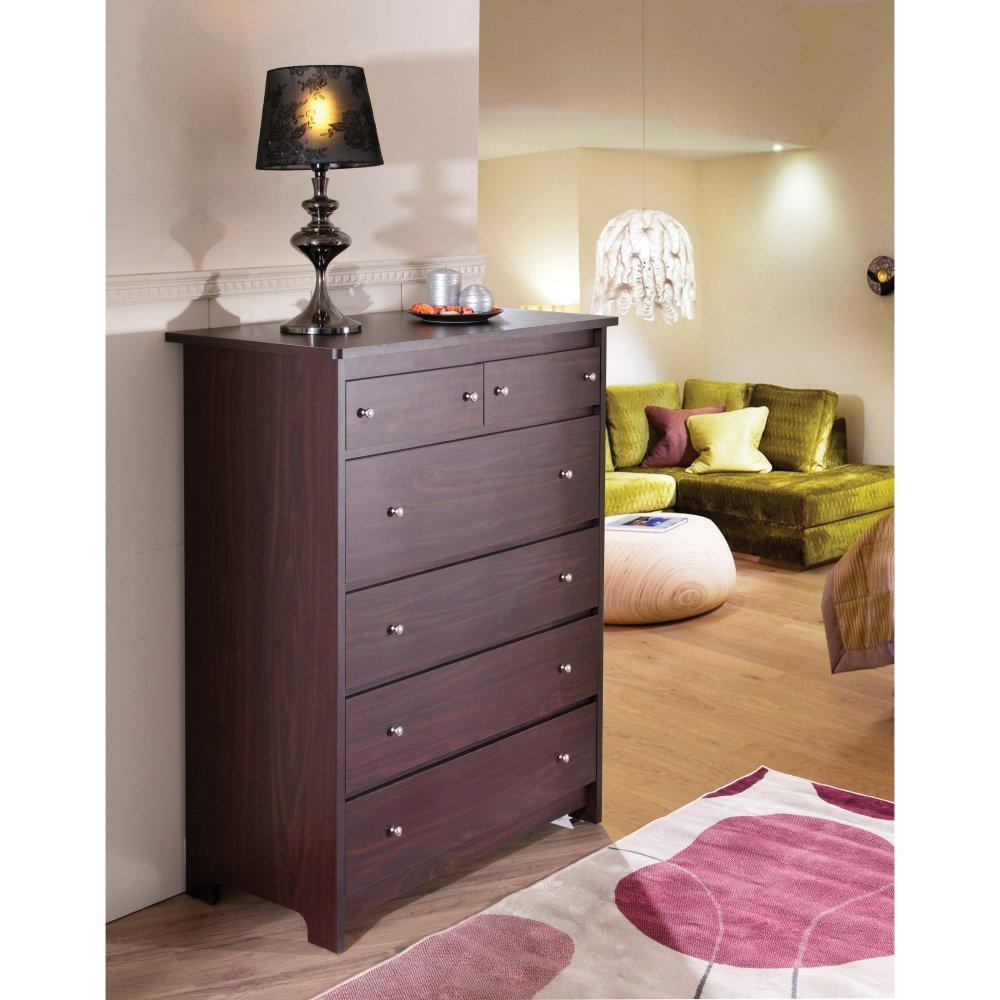 Furniture of America Melissa 6 Drawer Dresser - Walnut by Furniture of America