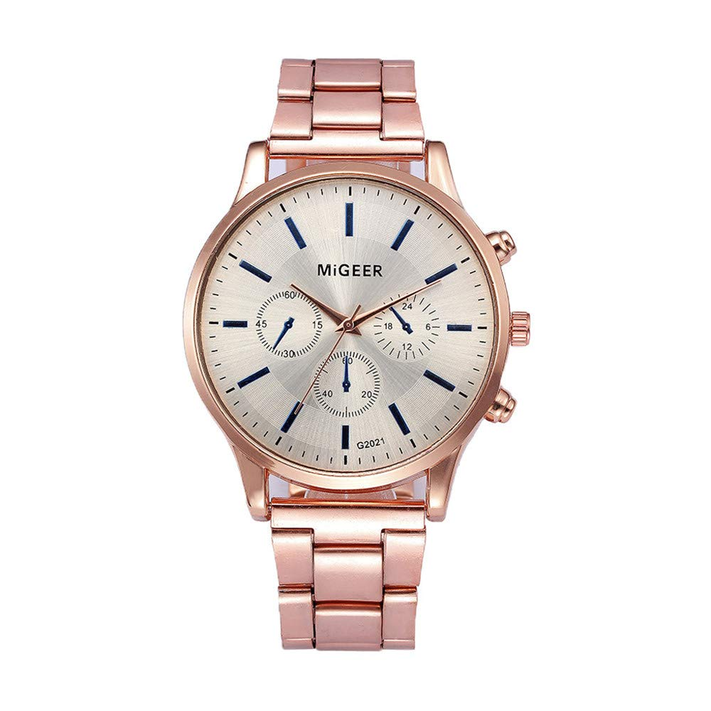 Business Watches for Men DYTA Analog Quartz Watch with Stainless Steel Band Cases Under 10 Luxury Wrist Watches Luxury Watches on Clearance on Sale Relojes De Hombre Gifts for Men Dad Boyfriend