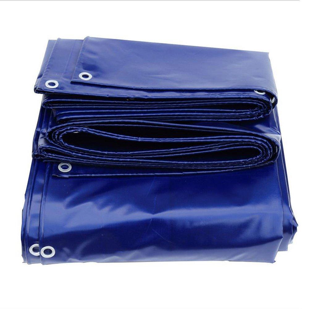 PENGFEI 厚い オーニング 防水 植物 雨布 ハーディー 日焼け止め ピクニックマット 耐摩耗性、 PVC、 厚さ0.45mm、 -550g / m2、 青、 8サイズのオプション ( サイズ さいず : 4 x 4M ) B07BV1SGXH 4 x 4M  4 x 4M