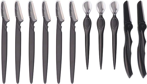 Minkissy Maquinilla de Afeitar de Cejas de 11 Piezas Afeitadora de ...