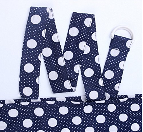 Breastfeeding Nursing Apron Cover Up Poncho Udder Blanket Navy with Dots Unbranded