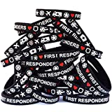 SayitBands One Hundred First Responders Wristband Bracelets