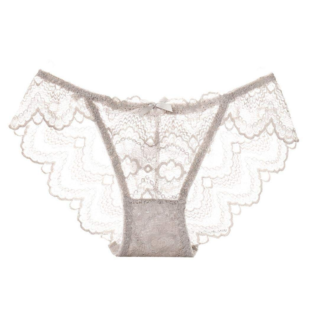 Ankola Sexy Underpants Panties Underwear Hipster Panties Sexy Lace Briefs for Women (Free Size, Gray)
