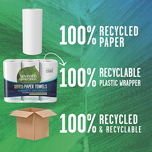 Seventh Generation Paper Towels, 100% Recycled Paper, 2-ply, 6-Count (Pack of 4) by Seventh Generation (Image #6)
