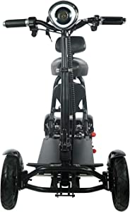 Fold and Travel Mobility Scooters for Adults 4 Wheel Long Range Mobility Scooter Electric Wheelchair Power (Black)