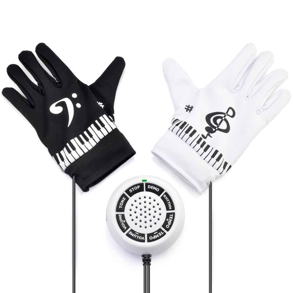 iKKEGOL Electronic Hand Piano Gloves Exercise Instrument Keyboard Musical Game Christmas Gifts New Year Present