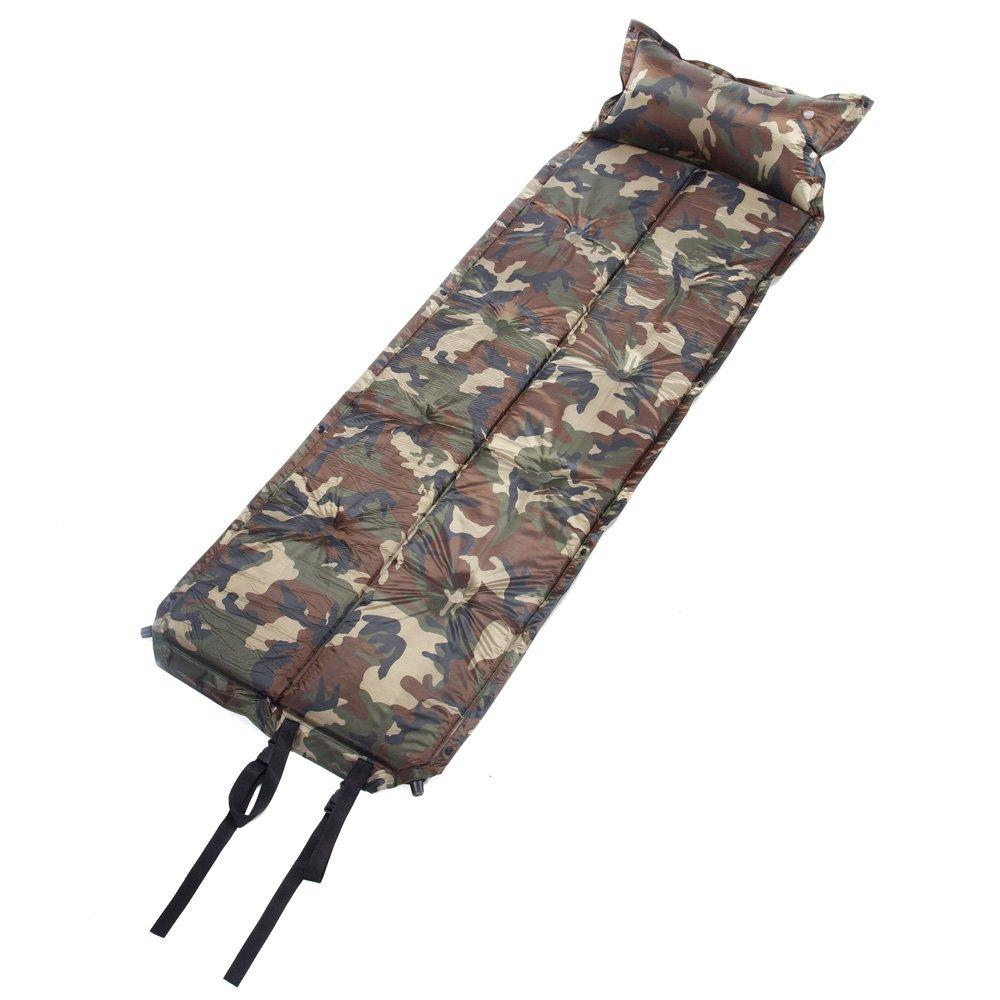 VDK Automatisch aufblasbare Matte Kissen Camouflage Schlafmatte Camping Schlafmatte Picinic Matratze Pad selbstaufblasend mit Aufbewahrungstasche
