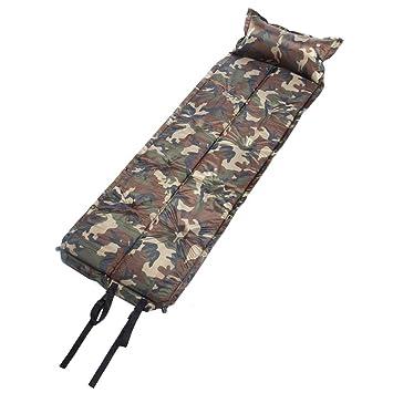 Automático inflable Mat Cojín camuflaje dormir Mat Camping ...