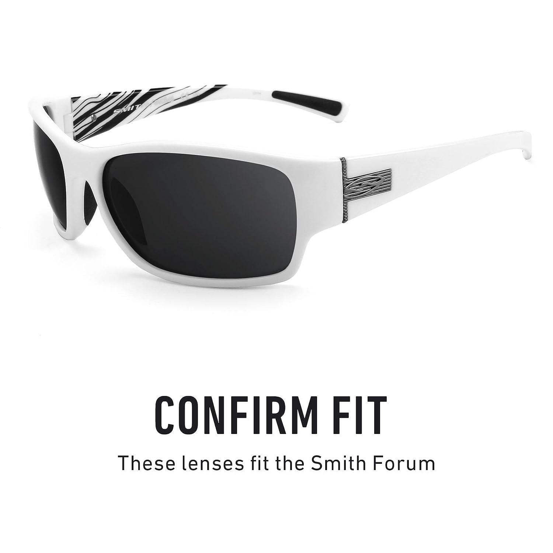 dced2fbea5 Amazon.com  Revant Polarized Replacement Lenses for Smith Forum Elite Black  Chrome MirrorShield  Sports   Outdoors