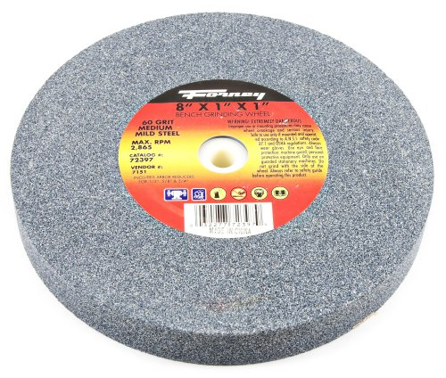 Forney 72397 Bench Grinding Wheel, Vitrified with 1-Inch Arbor, 60-Grit, 8-Inch-by-1-Inch