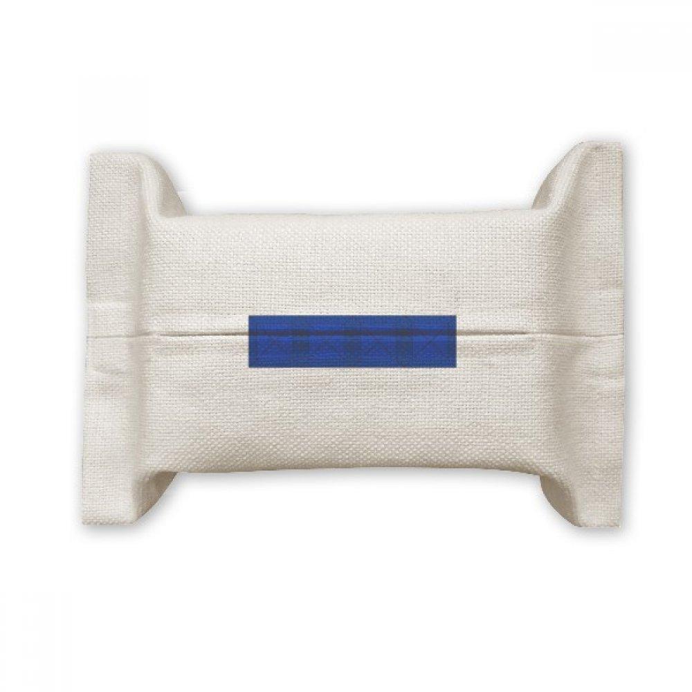 DIYthinker Classic Games Tetris Blue Block Cotton Linen Tissue Paper Cover Holder Storage Container Gift