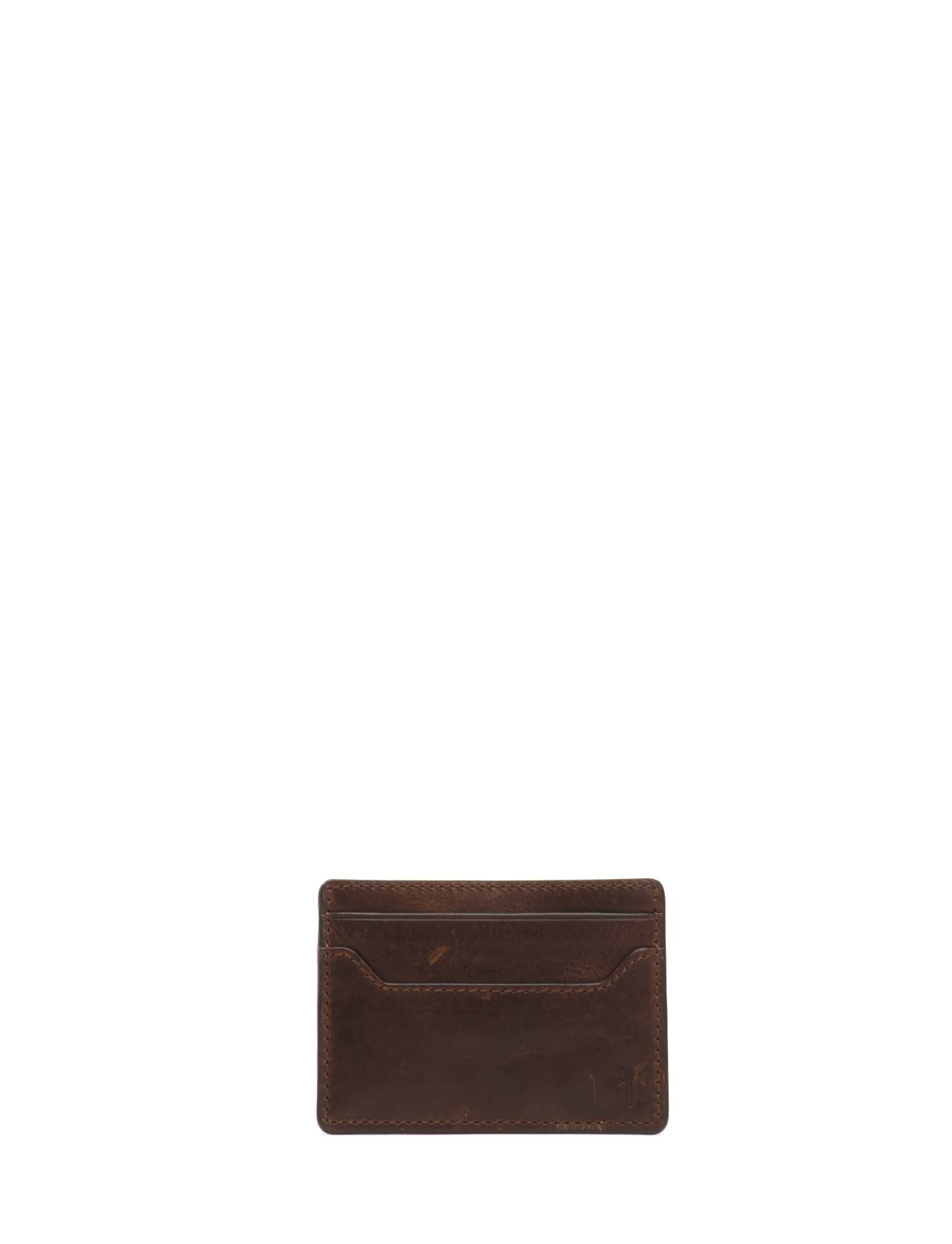 Logan Money Clip Card Case Credit Card Holder, dark brown, One Size