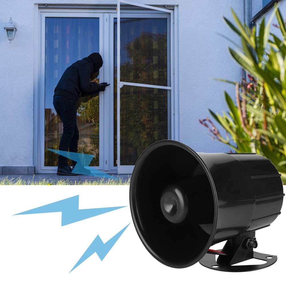 110dB 12V Tweeter Outdoor Security Alarm Sirena Loud Alarm Horn per sistema di protezione di sicurezza domestica Indoor//Outdoor