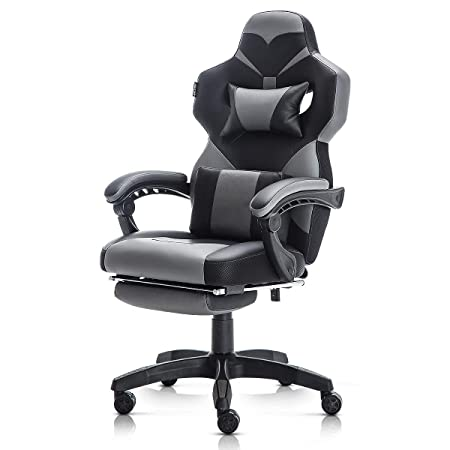 Racing Style PU Leather Gaming Chair – Ergonomic Swivel Computer, Office or Gaming Chair Desk Chair HOT GY0