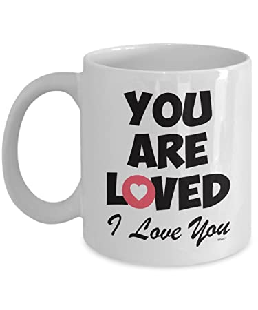 love mug you are loved anniversary valentines day christmas gifts for boyfriend