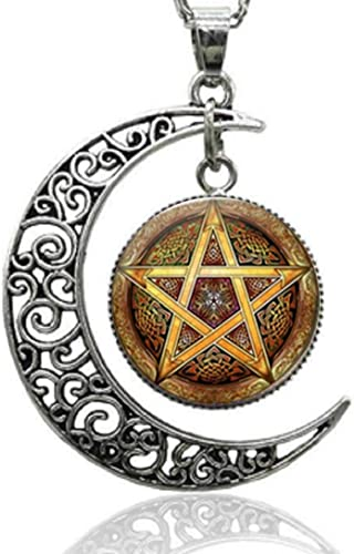 Aokarry Jewelry Women Copper Pendant Necklacesmoon Star Pendant Silver