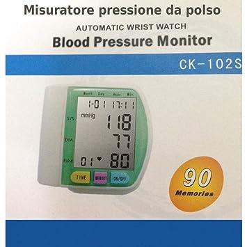 tradeshoptraesio® - Medidor de presión de pulsera digital automático de viaje Tensiómetro: Amazon.es: Belleza
