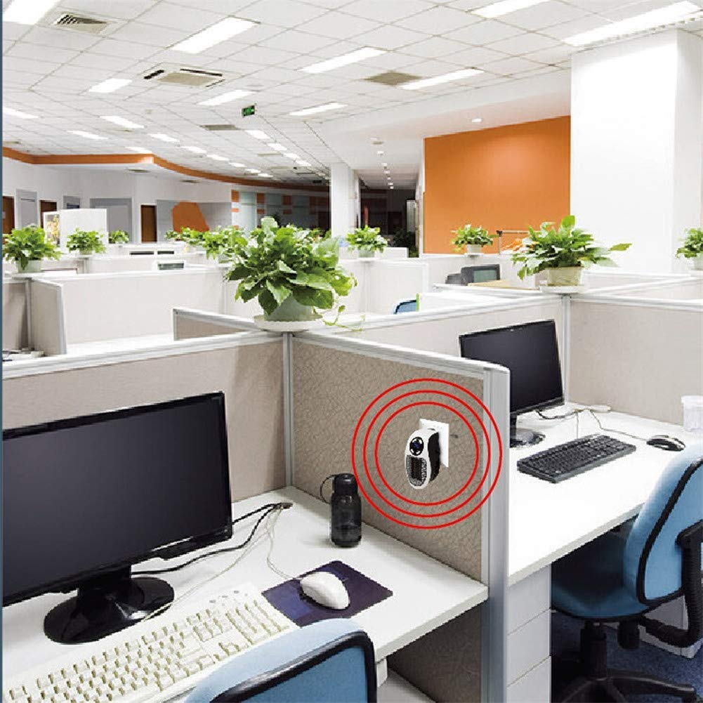 Nifogo Mini Calentador Portátil Heater, Estufa Eléctrica 500W con Termostato Ajustable Tiempo Programable de 12 Horas para Hogar Oficina Campista (White, ...