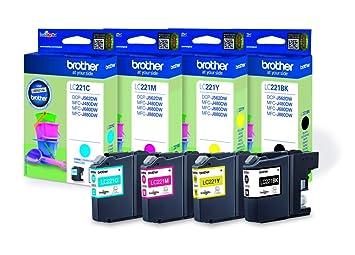 Brother LC-221 - Cartuchos de tinta para impresoras DCP J562DW ...