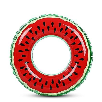 BISOZER-Toy Anillo Hinchable para Piscina de Verano, Juguete de sandía, Flotador de