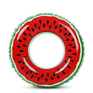 BISOZER-Toy Anillo Hinchable para Piscina de Verano, Juguete de sandía, Flotador de Agua, Doble protección para Adultos y Frutas: Amazon.es: Deportes y aire ...