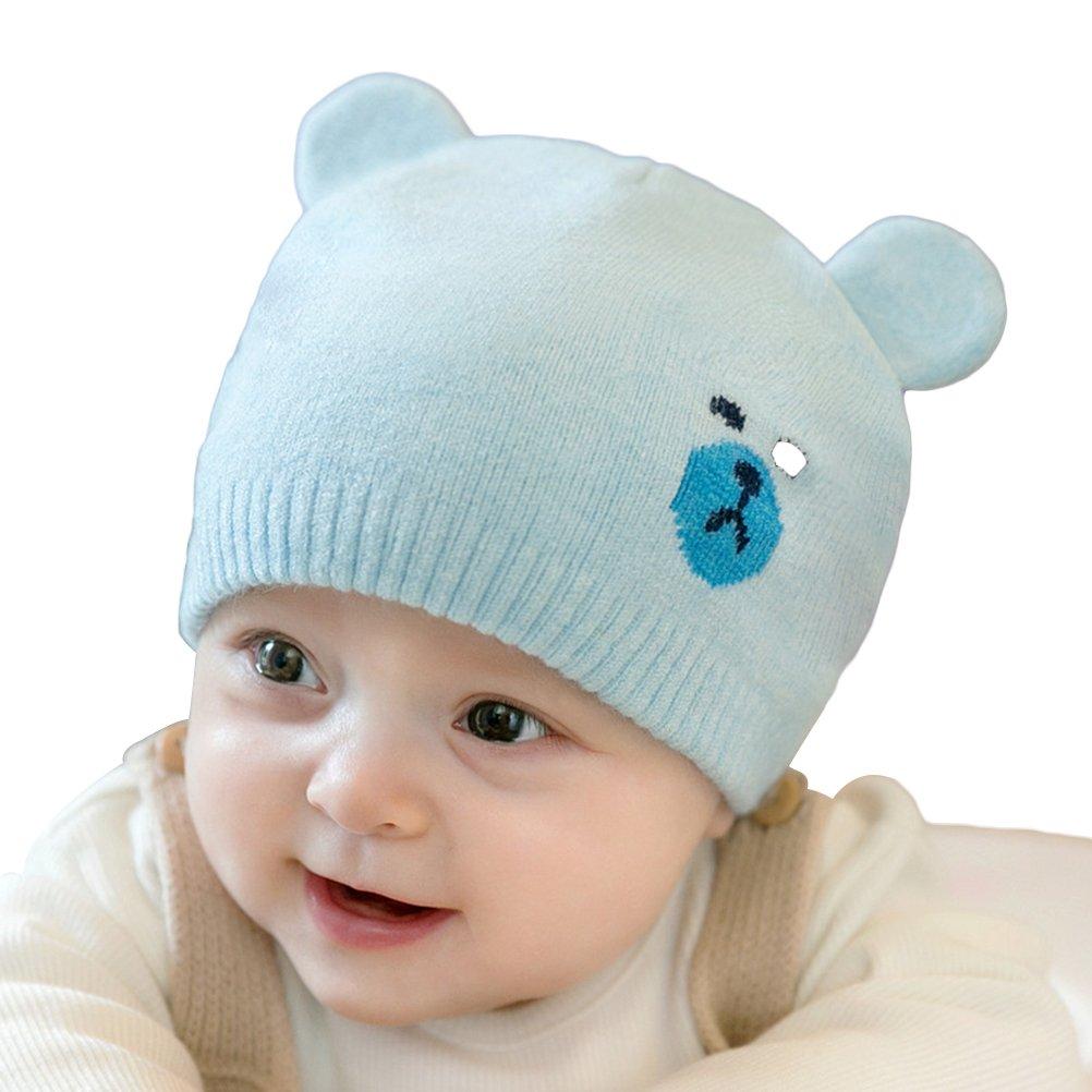 Gorro de invierno bebés YeahiBaby Bebés Niño Niña Sombrero de invierno  cálido de punto  (Beige ) Los mejores regalos de navidad 2018 645f1977425