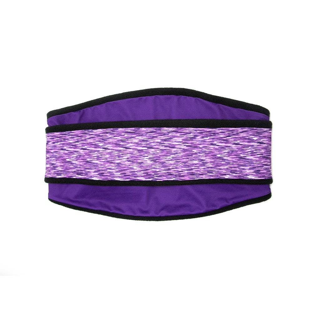 Polar Band-It Fleece Neck Gaiter with Headband, Running Balaclava - Purple Melange