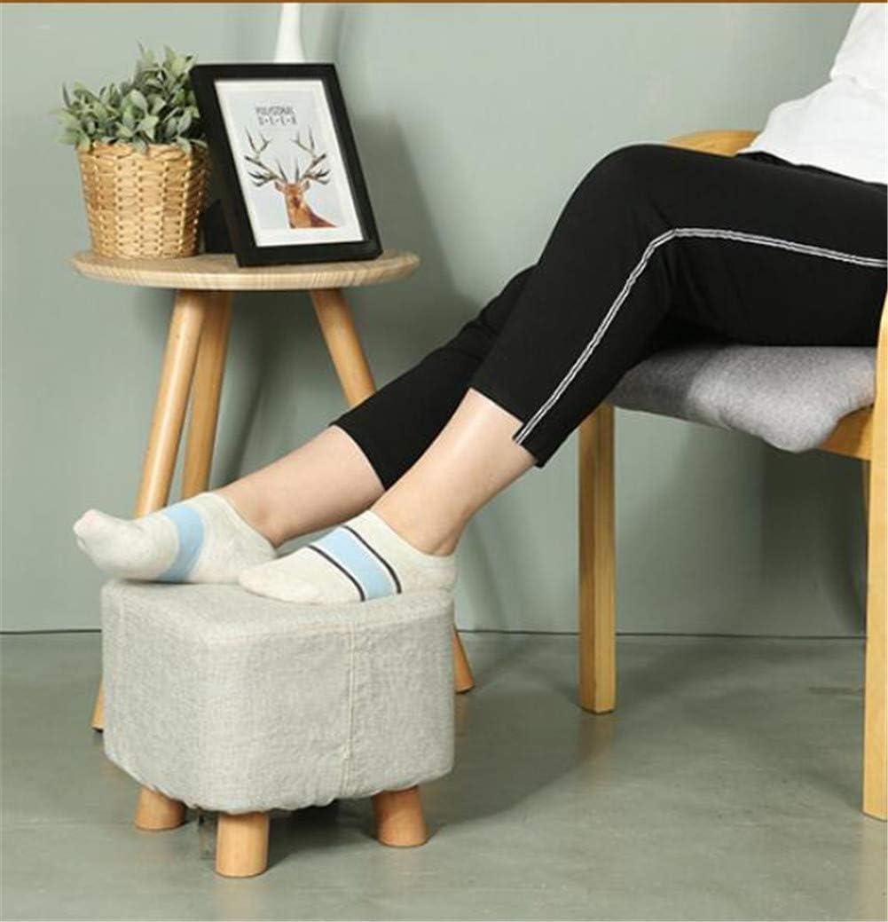 TPJJ Holz Fusshocker,Tragbar Gepolsterte Fußhocker,Nicht-Slip Hocker Für Kinder,Wohnzimmer B B