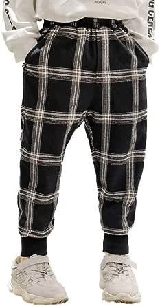 HOSD Pantalones a Cuadros para niños 2019 Invierno Nuevo bebé más Pantalones Gruesos de Terciopelo Pantalones Casuales para niños