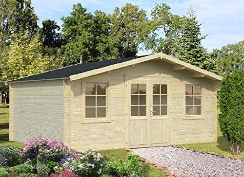 Casita de madera para jardín , madera de abeto, 28 mm, 17 m² - 504 x 380 cm: Amazon.es: Hogar